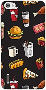 The Racoon Grip Fast Food hard plastic printed back case / cover for Huawei Honor 6