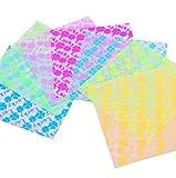 Da.Wa 70 Blätter DIY Luminous Faltpapier Origami Square Noctilucent Kran Papier 2,8× 2,8 mit, Random Color