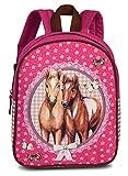 Fabrizio Kinderrucksack Pferde pink