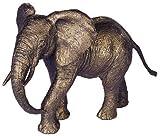 Mutter Elefant Bronze Skulptur aus Kunstharz