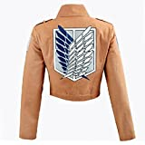Cosplay Attack on Titan Shingeki no Kyojin Recon Corps Jacket Coat Costume (Large) by Unknown