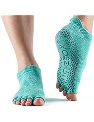 Toesox Ytoentlraquam, Calze per Yoga E Pilates Unisex – Adulto, Aqua, Medium
