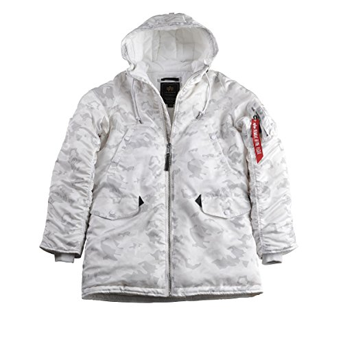 Alpha Industries Herren Jacken / Winterjacke N3-B PM white camo