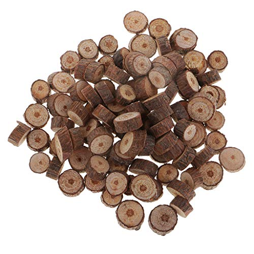 IPOTCH 100er Pack Naturholz Log Scheiben Naturholzscheiben Holzscheiben Baumscheiben für DIY Handwerk Hochzeit Weihnachten Mittelstücke
