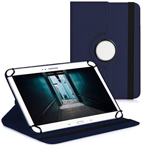 Premium Universal-Hülle für Tablet-PC Acer Iconia A1-810 8 ZOLL mit DREHFUNKTION und HALTER / STÄNDER-FUNKTION Schutz-Case Flip-Tasche Cover Blau