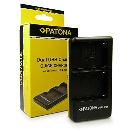 PATONA Dual Schnell-Ladegerät NP-FM500H für Akkus Sony DSLR-A200 A300 A350 A450 A500 A550 A560 A580 A700 A850 A900 ILCA-77M2 SLT-A57 A58 A65 A77 A99 inkl. Micro USB A550 Dslr-kamera