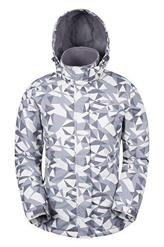 Mountain Warehouse Dawn Gemusterte Damen-Skijacke Grau DE 46 (EU 48) Isolierte Ski-mantel-frauen