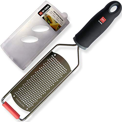 DI ORO® - Rallador fino de acero inoxidable profesional - Rallador perfecto para quesos, limones, limas...
