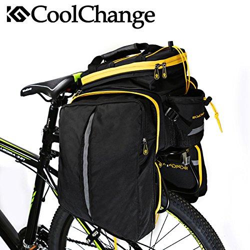 bolsa 35 L capacidad bicicleta bolsa de asiento trasero con resistente
