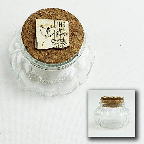 Dlm26520 (kit 12 pezzi) barattolo in vetro porta confetti per comunione confettata bomboniera