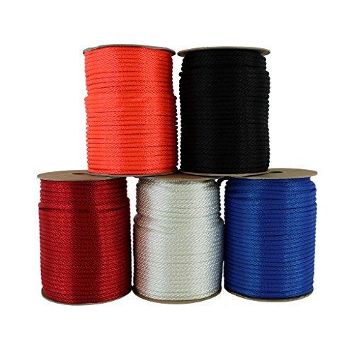 Sgt. Knoten Massiv Braid Nylon Seil 1/20,3cm 5/81,3cm 3/40,6cm 1/10,2cm 5/40,6cm 3/20,3cm (verschiedene Längen), schwarz - Nylon-seil 1 2