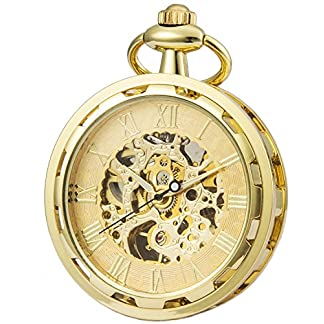 SEWOR-2017-New-Design-Single-Face-Mechanische-Hand-Wind-Taschenuhr-Full-Gold-Ton
