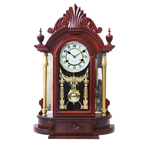 KHSKX Europäischen mechanischen Uhren kreative Wohnzimmer Uhren große Vintage Standuhr Uhr Salon (Standuhr Eine Kostüm)