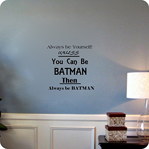 Be Batman, vinilo, azul celeste, 12x16