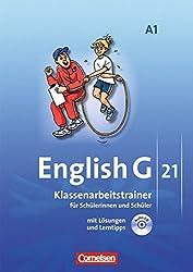 English G 21 - Ausgabe A / Band 1: 5. Schuljahr - Klassenarbeitstrainer mit Lösungen und Audio-Materialien