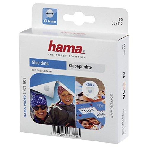 Hama Klebepunkte (300 Fotokleber, doppelseitig selbstklebend, Klebepads rund, ø 6 mm), transparent