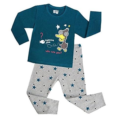 Lydreewam Kinder Jungen Mädchen Pyjamas Schlafanzug (Bananas In Pyjamas Kostüm Kinder)