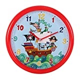 Rachel Ellen Collection Piratenschiff 26Cm Kinder Quarz-Wanduhr
