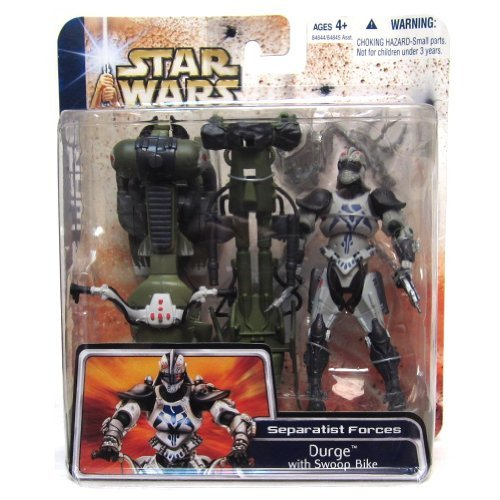 Star Wars Clone Wars Durge Figur mit Swoop Bike (Action-figur-clone Wars)