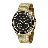 Orologio da uomo, Collezione Traguardo, con movimento al quarzo e funzione cronografo, in acciaio e PVD giallo - R8873612010