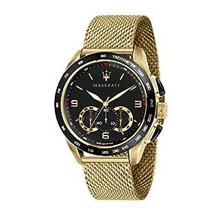 Reloj para Hombre, Colección Traguardo, con Movimiento de Cuarzo y función cronógrafo, en Acero y pvd Amarillo – R8873612010