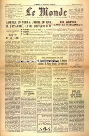 MONDE (LE) [No 3250] du 07/07/1955