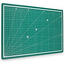 PRETEX tabla de cortar Premium, tabla de corte, 45 x 30 cm (A3) en verde con superficie autoreparativa, autocurativa | con 2 años de garantía de satisfacción | Cutting Mat