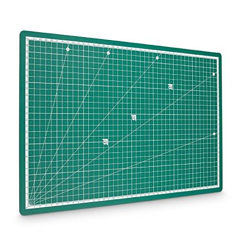Preisvergleich Produktbild PRETEX Schneidematte 45 x 30 cm (A3) aus recyceltem PVC in grün mit selbstschließender, selbstheilender Oberfläche | 2 Jahre Zufriedenheitsgarantie | Schneideunterlage, Cutting Mat