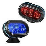 Bisozer 4in 1auto orologio digitale con termometro e Automotive voltage Meter Clock tester detector monitor LCD della luce luminosa con Freeze