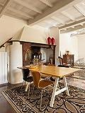 benuta Teppiche: Moderner Designer Flachgewebe Teppich Dawn Royal Braun 160x230