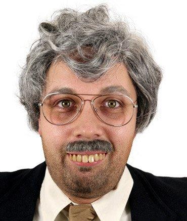 Generique - Riesige Zähne Gebiss mit Klebstoff für Erwachsene