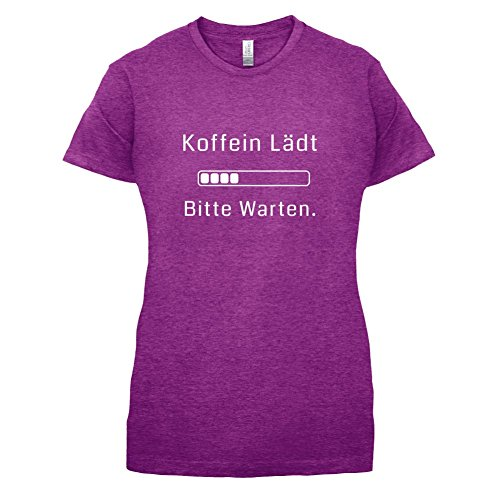 Koffein lädt, bitte warten! - Damen T-Shirt - 14 Farben Beere