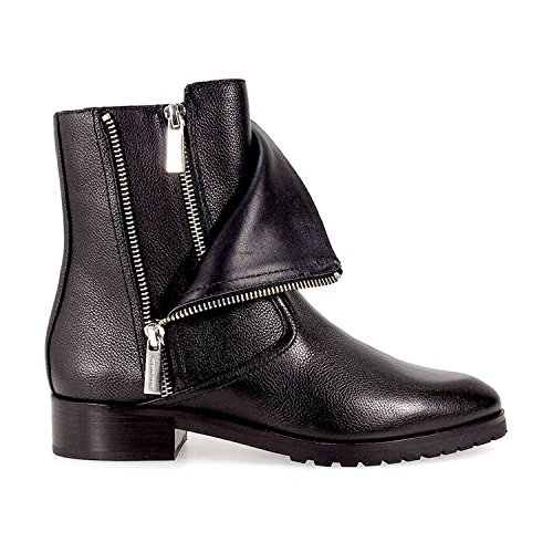 Michael Kors Damen Stiefel Schuhe Andi Flat Bootie Leather 40F7AIFE5L Black New