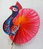 Ricisung Cocktail- und Büfett-Accessoires / Dekorationen, verschiedene Designs, 100 Stück, pfau