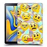 Head Case Designs Officiel Emoji® Pastel Nouvelles Expressions Étui Coque en Gel Molle pour Samsung Galaxy Tab A 10.5 (2018)