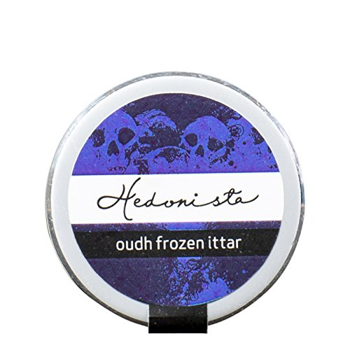 Hedonista Oudh Frozen Ittar - Solid Perfume with the woody fragrance of Oudh | Exotic fragrance in a travel friendly pack | 12 gm