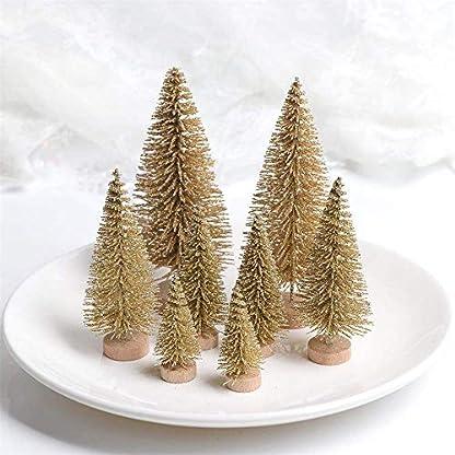 Lomire-12-Stck-Mini-knstlicher-Weihnachtsbaum-Tannenbaum-Christbaum-mit-Holz-Basis-Weihnachten-Tabletop-Bume-DIY-Handwerk-Ornament-fr-Home-Party-Dekoration