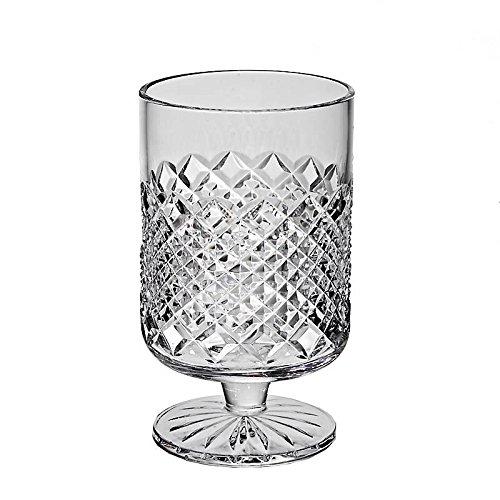 CRISTALICA Vase Blumenvase Bouquet Vase Waterford Transparent H 15,5 cm Handgeschliffen Kristallglas Tischvase Waterford Bouquet