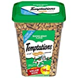 TEMPTATIONS Classic Treats for Cats Seafood Medley Flavor 16 Ounces; With Our Mouthwatering Menu We Have a Flavor For Every Feline