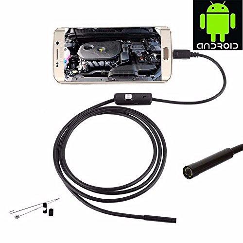 Hd-Android-Endoskop-Eingebaute Tragbare Kamera-Sex-Rohrleitung Des Industriellen Telefon-5Mm Wasserdicht, Staubdicht, 6 Justierbare Led-Lichter,1M