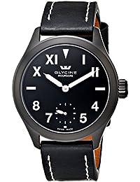 Glycine Incursore II California - Reloj manual (44 mm, recubrimiento de PVD color negro, esfera color negro)