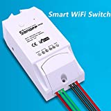#7: amiciKart® Sonoff Dual Wifi Switch,Smart Home Wireless Remote Control Light Intelligent DIY Switch Timer.
