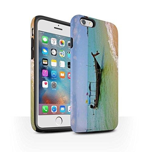 STUFF4 Matte Harten Stoßfest Hülle / Case für Apple iPhone 6+/Plus 5.5 / Feuerwerk Muster / Thailand Landschaft Kollektion Boot/Küste