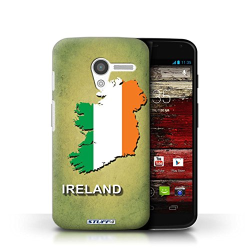 Kobalt® Imprimé Etui / Coque pour Motorola MOTO X / Afrique du Sud/Afrique conception / Série Drapeau Pays Irlande/irlandaise