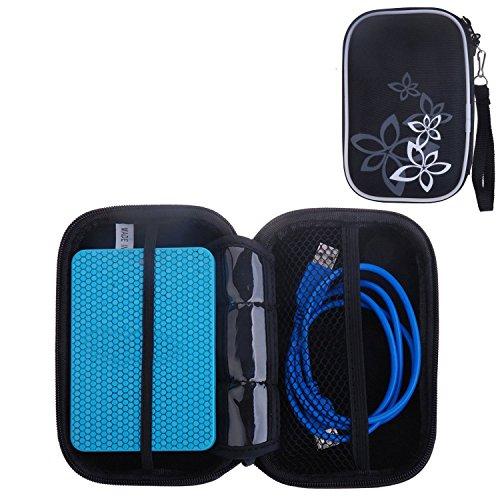 Kamera 2,5 (Tinxi® Multifunktion Schalen Tasche Externe Festplattentasche für Festplatten Kamera MP4 MP5 (2.5 Zoll) Schutzhülle Flipcase Schale Cover Etui Skin Schwarz)