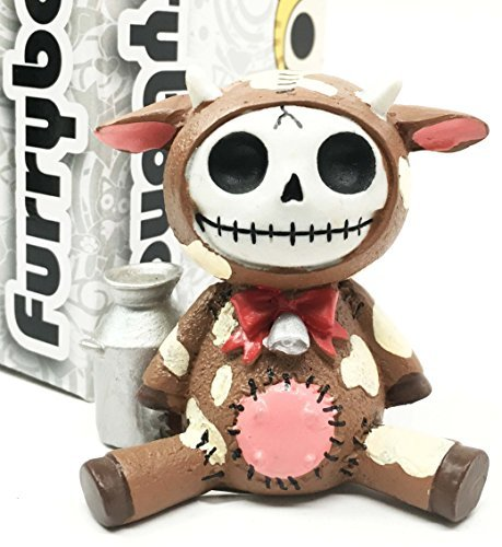 furry-bones-brown-moo-moo-milk-cow-skeleton-monster-sit-up-ornament-figurine-by-gifts-decor