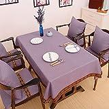 CCILOVE Mantel de lino estilo moderno minimalista encajes de paño de color sólido,purple,90*90cm.