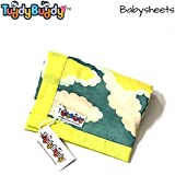 TuddyBuddy: Bedding Sheet Cum Top Sheets for Baby | Ideal for 0-2 yrs Baby. Swaddle Blanket, AC Blanket, Baby Wrapper, Quick Dry Swaddle Wrap. 100% Cotton | 100X100 Cms (Green)