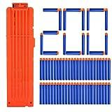 Foxom 200 Stück Darts Pfeiles mit 18-Dart Clip Magazin für Nerf N-Streik Elite Series Blasters Spielzeugpistole