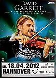 GARRETT, DAVID - 2012 - Konzertplakat - Rock Symphonies - Tourposter - Hannover